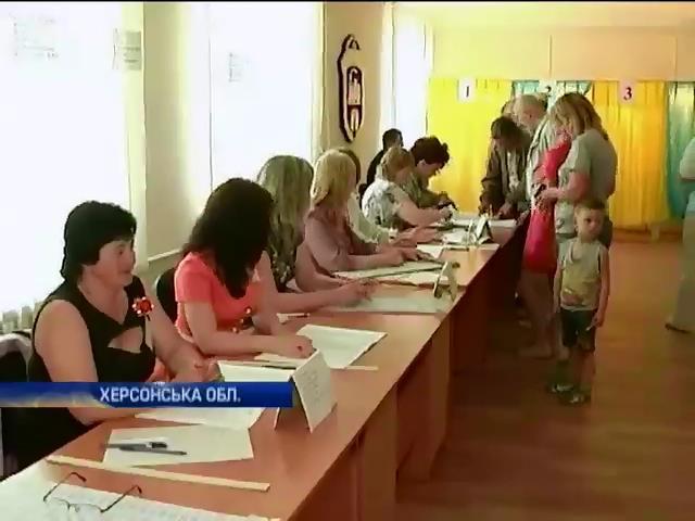 Крымские татары приехали голосовать в Херсонскую область (видео)