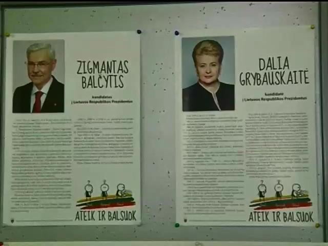 Грибаускайте лидирует на выборах президента Литвы (видео)