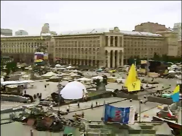 Самооборона Майдана начинает демонтаж палаток на Крещатике (видео)