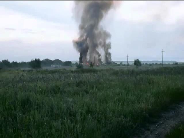 В Луганской области террористы обстреляли пограничников из гарнатомета (видео) (видео)