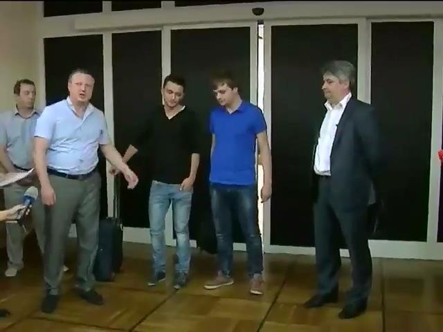 "В Днепропетровске отпустили журналистов телеканала ""Звезда"" (видео)"