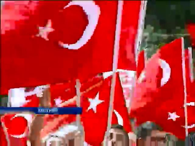 В Вене турки встретили Эрдогана митингами (видео) (видео)