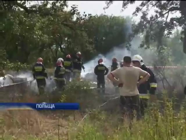 Слiдчi з'ясовують причини падiння вертольоту у Польщi (видео)