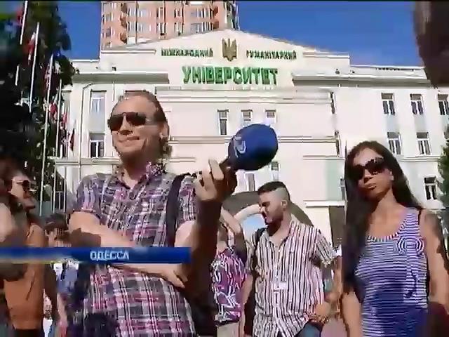 В Одессе активисты Евромайдана пикетировали пророссийский телеканал Сергея Кивалова (видео)