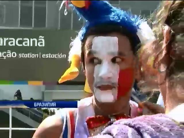 """Фанаты в Бразилии разрисовывают лица, надевают необычные наряды и кричат """"Будьмо"""" (видео) (видео)"""