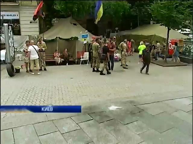 Минувшей ночью в Киеве на Майдане прогремели два взрыва (видео)