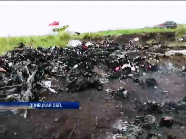 Место падения Боинг-777 заблокировано террористами: видео очевидцев (видео)