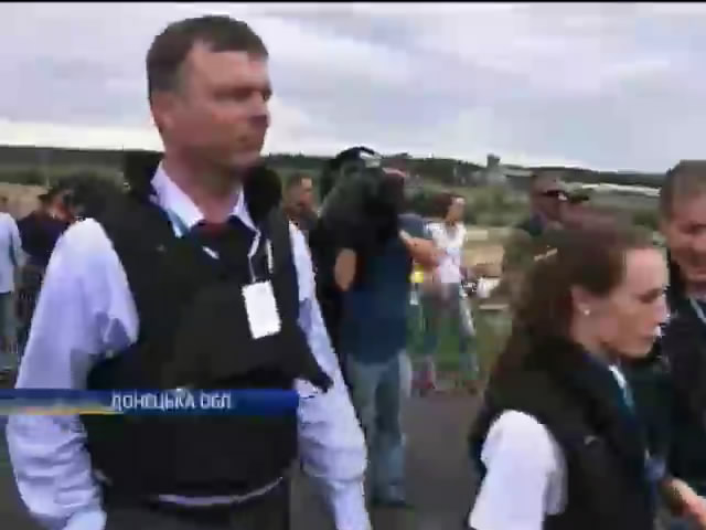 Терористи не дають представникам ОБСґ працювати на мiсцi катастрофи Боiнга-777 (вiдео) (видео)