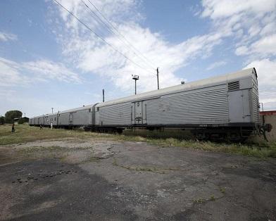 Поезд с останками погибших в катастрофе Боинга прибыл в Харьков (фото)
