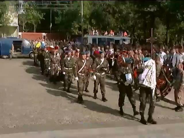 Кiровоград провiв в останню путь чотирьох десантникiв (видео)