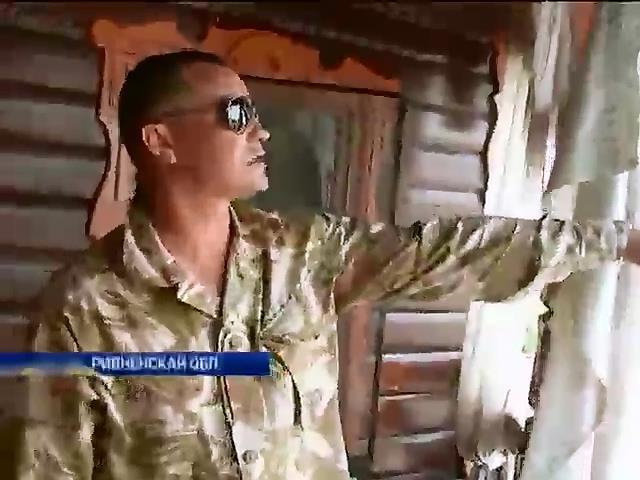 На Ривненщине в дом янтарного старателя бросили гранату (видео) (видео)