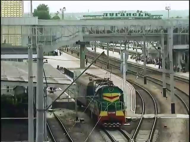 Луганчане остались без железнодорожного сообщения (видео)