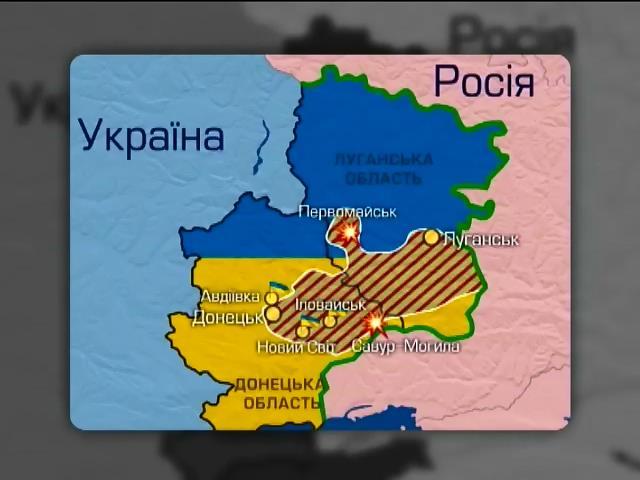 Армiя зачищаe Авдiiвку та Iловайск вiд терористiв (видео)