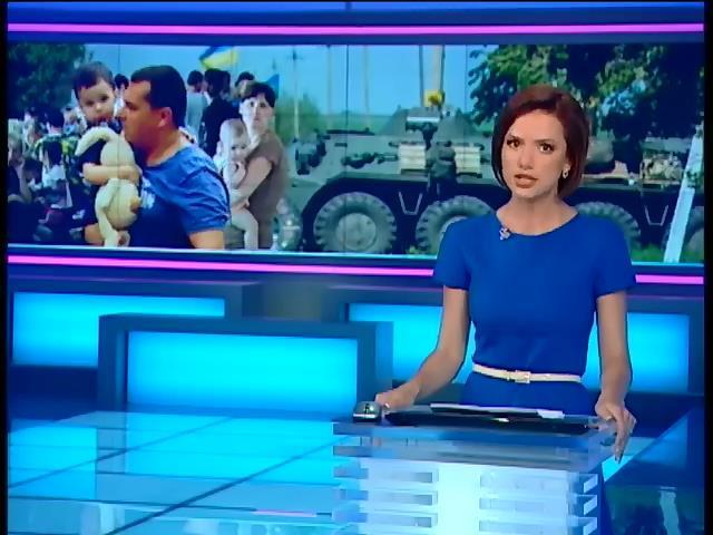 Вiйськовi органiзували гуманiтарний коридор для мешканцiв Луганська (видео)