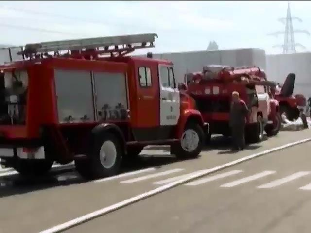 У Черкасах спалахнув завод iзоляцiйних матерiалiв (видео)