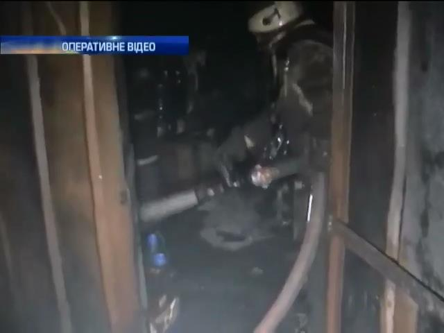 У пожежi в гаражному кооперативi Харкова мало не загинув автовласник (видео)