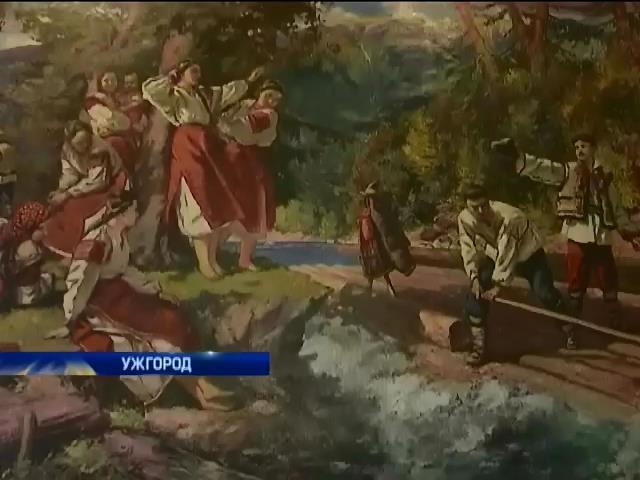 На Закарпаттi пiдробку вiдомоi картини хотiли продати за 80 тисяч доларiв (вiдео) (видео)