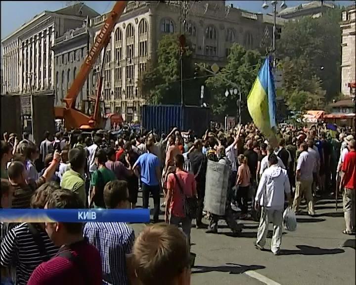Кличко вiдмовився надавати на Майдан новi намети та холодильники (видео)