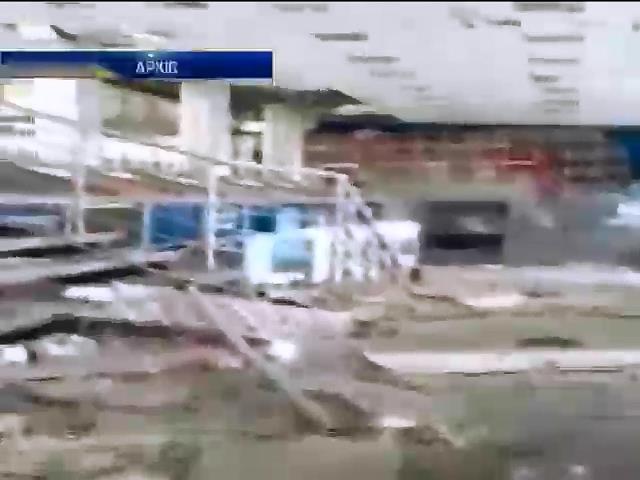 Будiвля аеропорту Луганська зруйнована пiсля двох мiсяцiв боiв (видео)