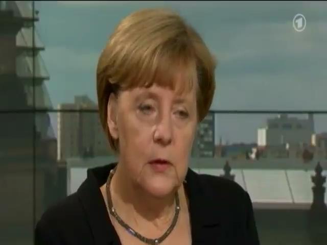 Украинский кризис можно решить без оружия - Ангела Меркель (видео)