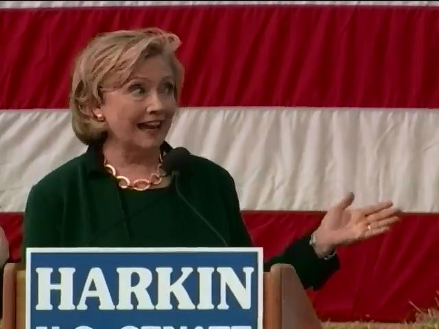 Клинтон намекнула о президентских амбициях на вечеринке со стейками (видео) (видео)