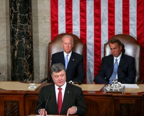 Порошенко в Конгрессе США обвинил Кремль в вероломстве (фото)