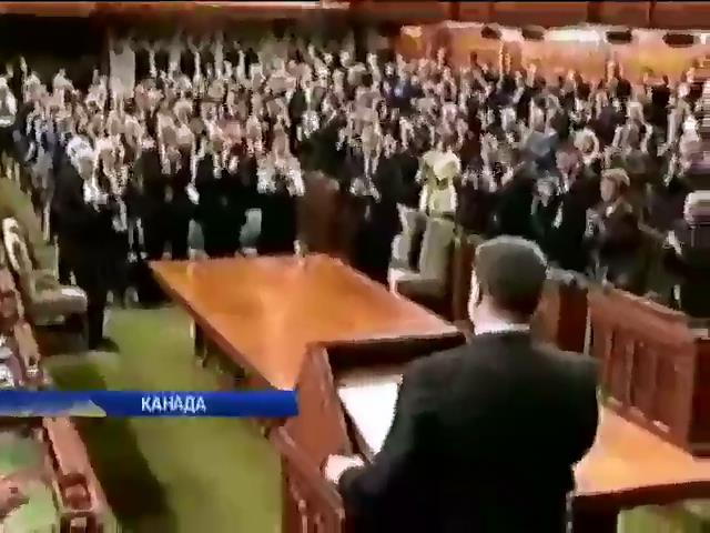 Парламент Канады аплодировал речи Порошенко стоя (видео) (видео)