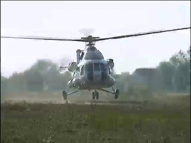 На чергування в зону АТО заступають 8 вертольотiв з Африки (видео)