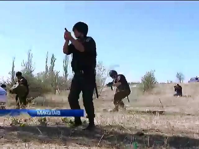 Мiлiцiонери Миколаeва тренувалися протидiяти сепаратистам (вiдео) (видео)