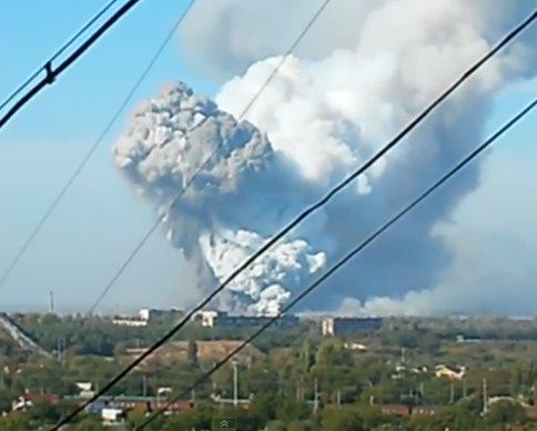 В Донецке на химзаводе прогремели 3 мощнейших взрыва (обновлено, фото, видео)