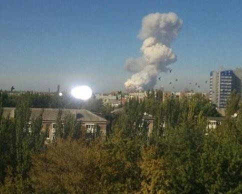 Опасные химвещества в воздухе после взрыва на Донецком заводе не обнаружены