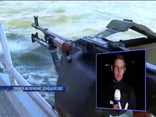 Пограничники Мариуполя отстреливают беспилотники России: видео с моря (видео)