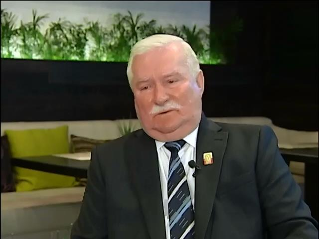 Лех Валенса умоляет украинцев объединиться в борьбе против общего врага (видео)