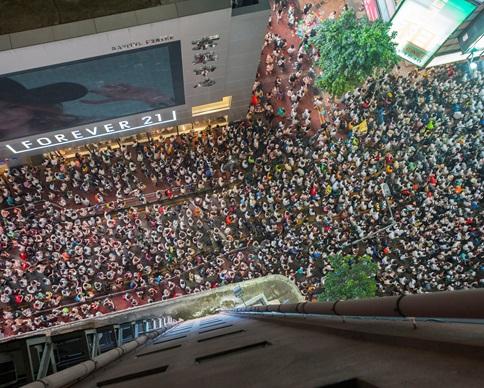Протестующих в Гонконге стало значительно меньше