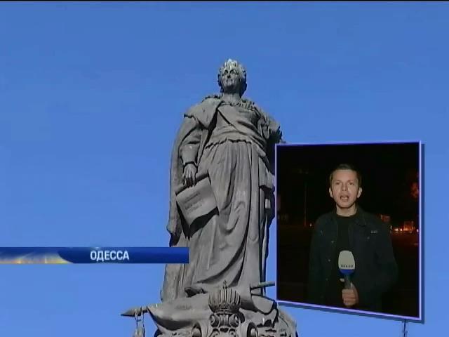Памятник Екатерине II в Одессе может постигнуть участь Ленина (видео) (видео)