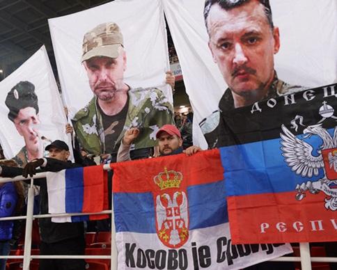 Фанаты сборной России вывесили портрет террориста Гиркина на матче с Молдовой (фото)