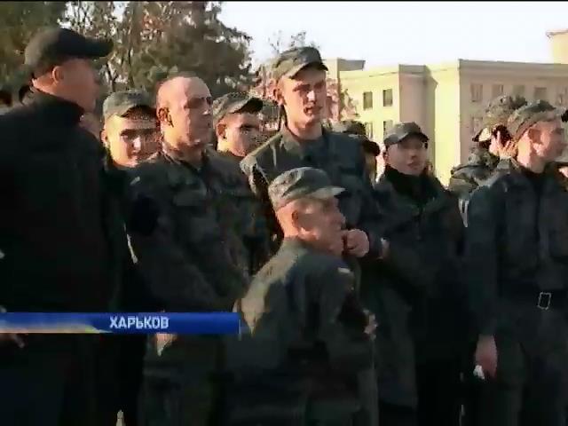 Дембеля в центре Харькова требовали 40 срочников (видео)