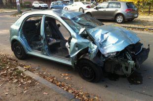 На Борщаговке автомобиль разобрали на запчасти за ночь (фото)