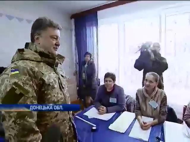 Порошенко в Краматорську поспiлкувався з вiйськовими (видео)