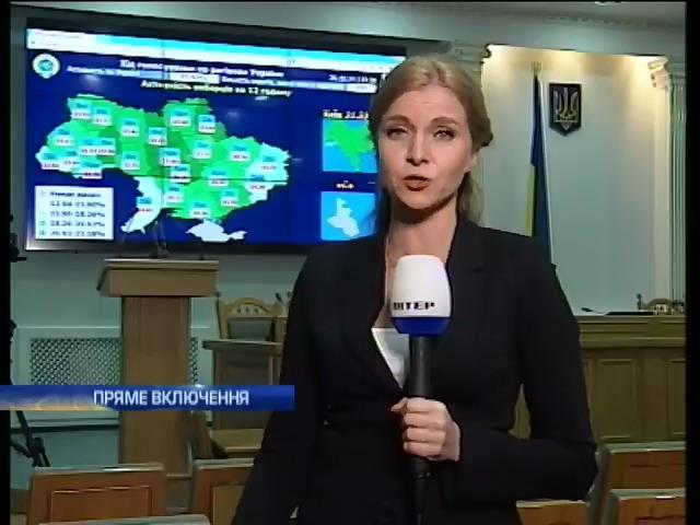 Виборцi Киeва i Черкащини голосують найактивнiше (вiдео) (видео)