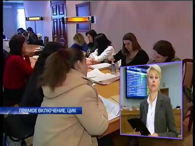 ЦИК за день приняла документы от 40 окружных комиссий (видео)