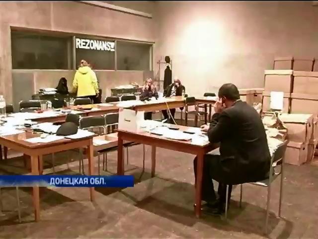 ЦИК не может досчитать голоса в Донецкой области (видео)