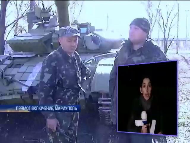 Танкисты укрепляют позиции под Мариуполем (видео) (видео)