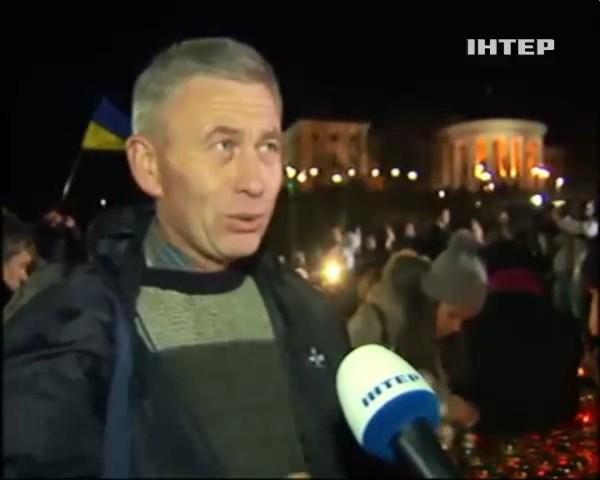 На Майдане почтили память погибших (видео) (видео)