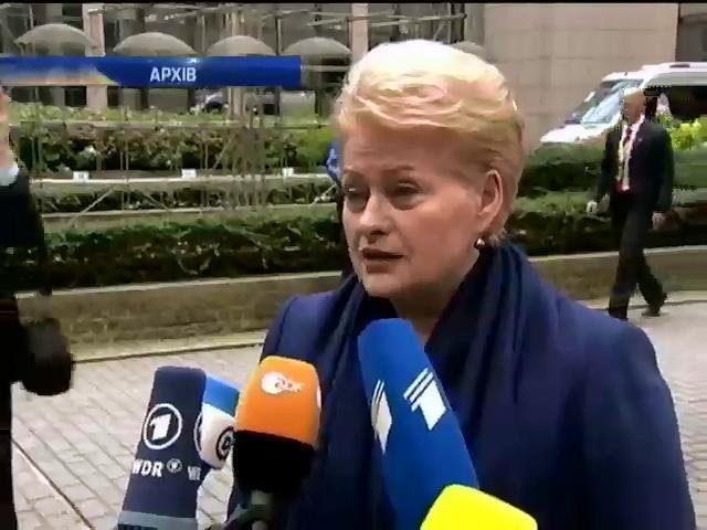Литва закликаe надати Украiнi зброю (видео)