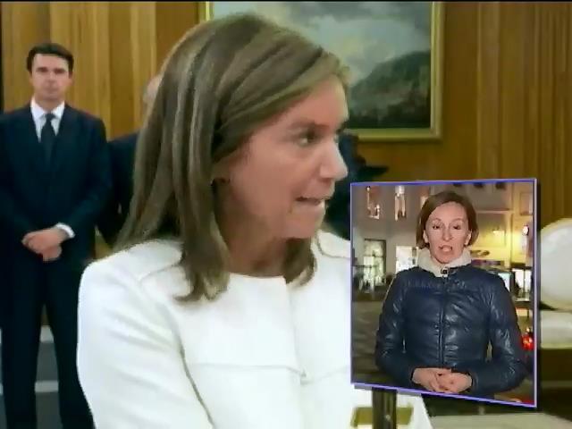 Министр Испании ушла в отставку из-за мужа (видео)