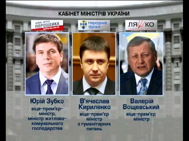 Радi представили кандидатури урядовцiв (видео)