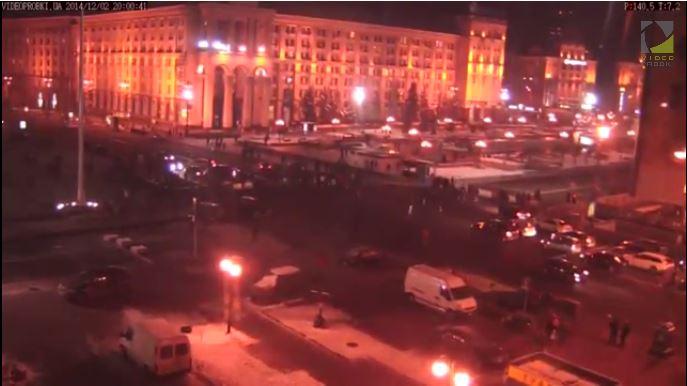 В Киеве перекрыли Крещатик (фото)