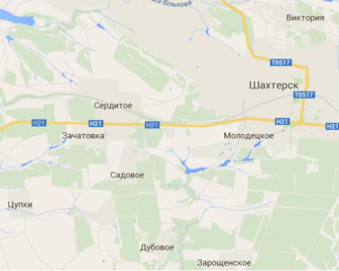 ОБСЕ зафиксировала колонну из 100 грузовиков под Донецком