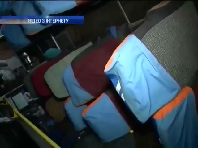 На Львiвщинi перекинувся автобус (видео)